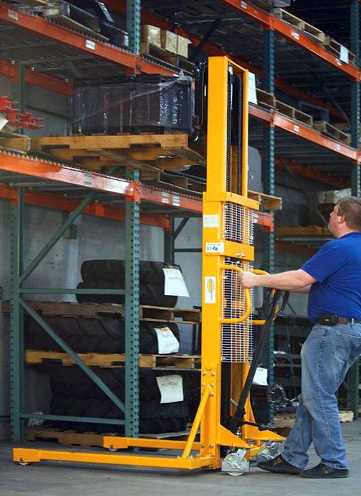 Штабелер гидравлический ручной - погрузчики для склада от интернет-магазина Sprojekt